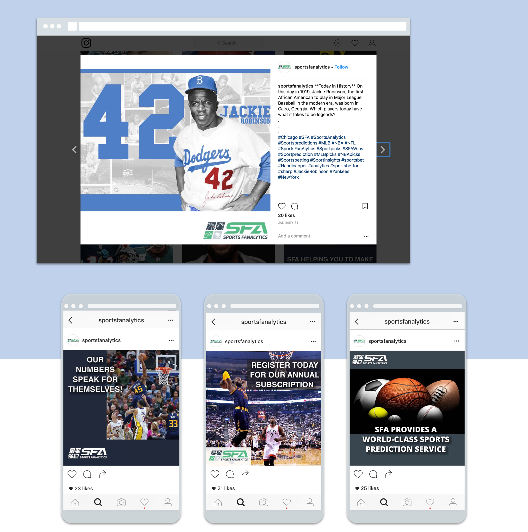 SFA 3 mobile screens