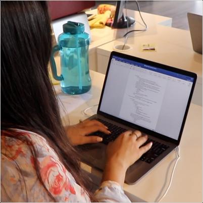 mounika typing