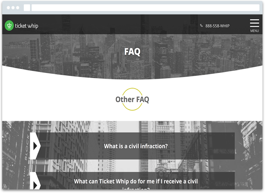 faq screen