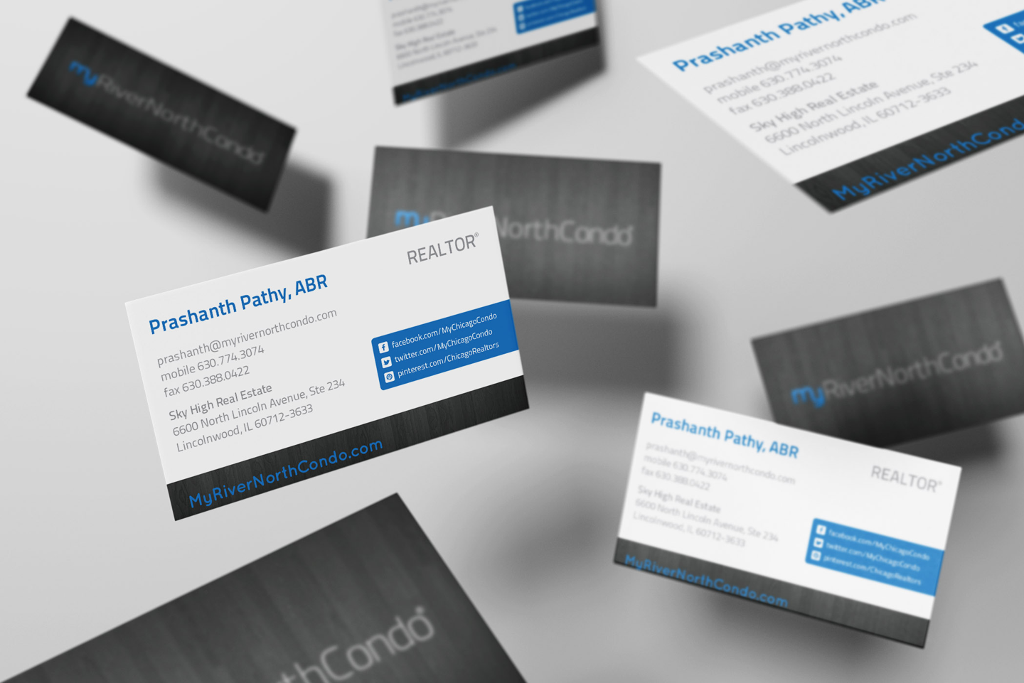 MyRiverNorthCondo Flying_Business_Cards_Mockup