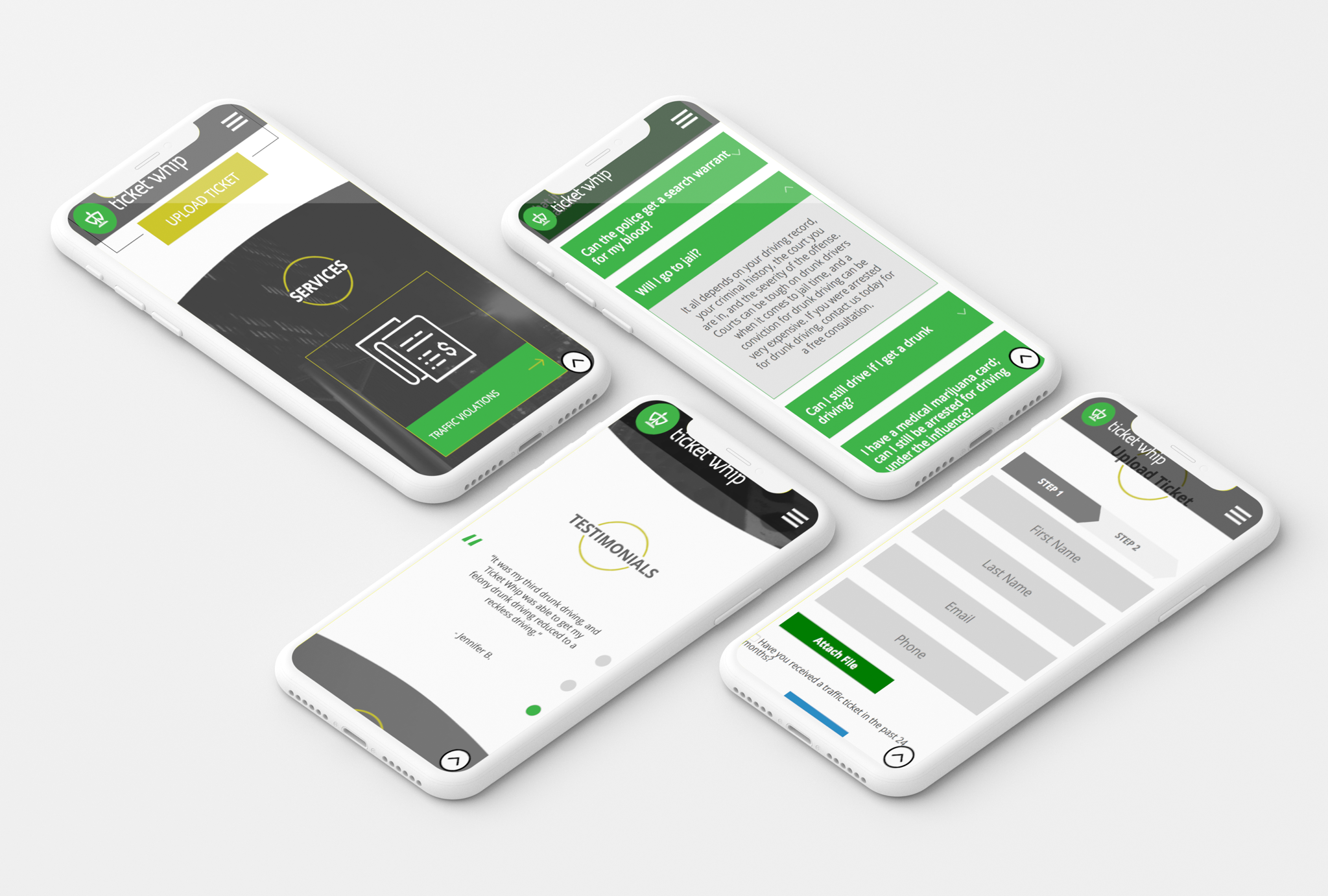 Ticketwhip iPhone mockups