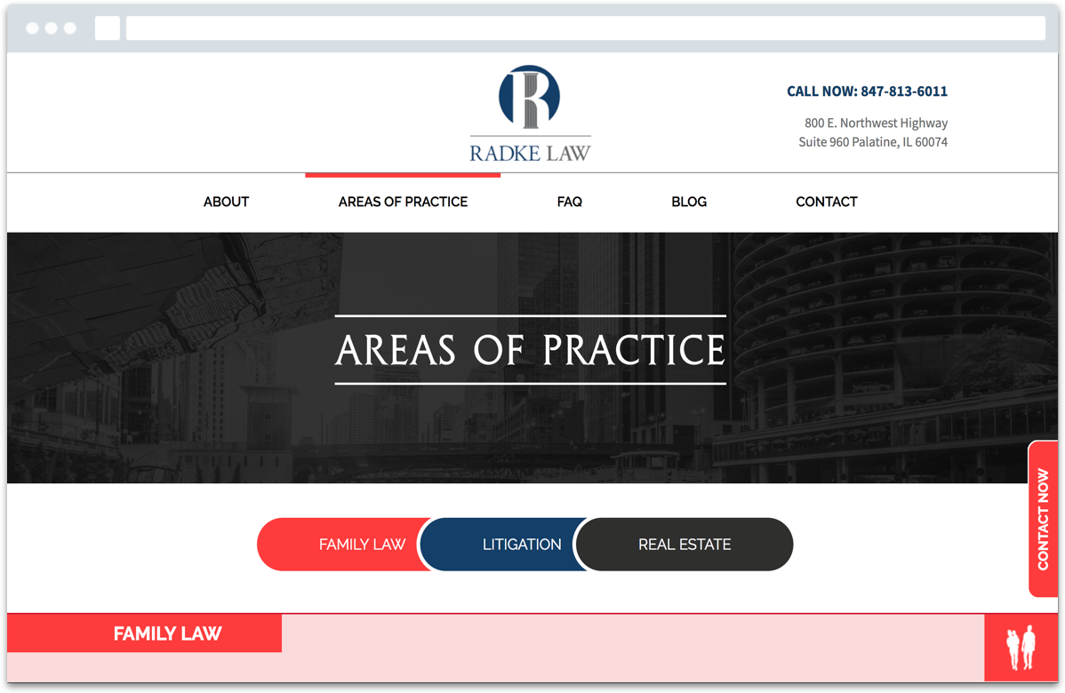 radke law main screen